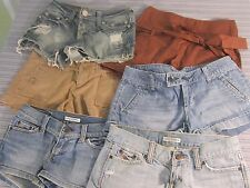 Large Lot of 6 Pair Of Summer Shorts, Size 0, Abercrombie, American Eagle & More