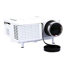 HOT White Mini Portable HD LED LCD Projector Home Cinema PC Laptop VGA SD HDMI