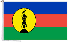 More details for new caledonia kanak people flnks france flag with rope and toggle various sizes