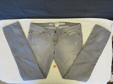 People's Liberation Women's Size 31 Light Gray Grey Distressed Destroyed Jeans