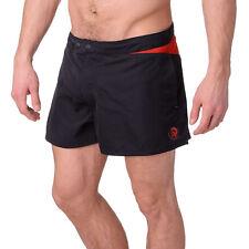 DIESEL - Mohawk Logo Colour Block Beach / Swim Shorts Black - Size 38 / XXL