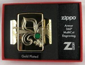 Zippo Fleur de Lys Gold Plated Luxury 60005210 NEU + OVP