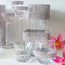 Wedding Bridal Silver Bouquet Wrap Ribbon 1 Roll Sparkle Diamond Mesh Wrap