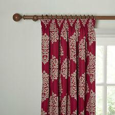 """JOHN LEWIS Lined Chenille Damask Pencil Pleat Curtains - 90""""Wx54""""D/228cmx137cm"""
