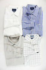 Faconnable Mens White Gray Blue Cotton Dress Shirt Lot 4 Size Extra Large Large