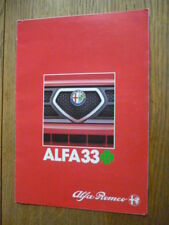 ALFA ROMEO 33 CLOVERLEAF CAR BROCHURE