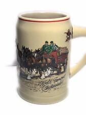 Vintage Anheuser Busch Budweiser By Ceramarte Beer Mug Clydesdale Horses