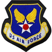 USAF Air Force Patch  U.S. Air Force Leather with hook closure  (Made in USA)
