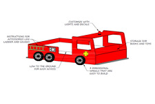 Fire Truck Bed PLANS - Build it Yourself!!