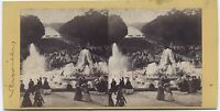 Versailles Francia Stereo Vintage Albumina, Albume Ca 1860