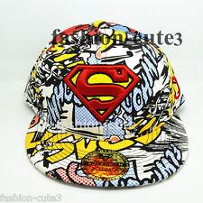New Multi-Coloured  Adjustable Snapback Superman Adult flat baseball Hat cap