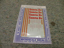 Microscale  decals HO 87-936 Santa fe Roadrailers Autorailer 1985+   M165