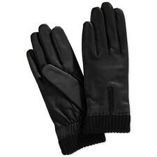 Retail Charter Club Womens Black Fleece Lined Leather Gloves 2xl