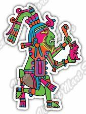 "Maya Civilization Mayan Art Aztec Indian Car Bumper Vinyl Sticker Decal 3.5""X5"""
