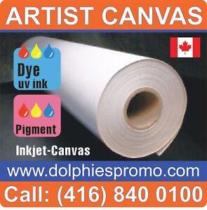 LOT OF 4 ROLLS - ART CANVAS Paper Inkjet Large Wide Format Plotter Matte L60'