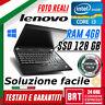 "PC NOTEBOOK LENOVO THINKPAD X220 12,5"" CPU i3 4GB RAM SSD 128GB WIN10 PRO!"