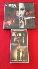 Lot Horror Thriller DVD Hatchet Fright Night Insidious 2 Sequel UNRATED Gore