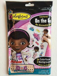 Restickable Colorforms On the Go Set Doc McStuffins Disney Junior