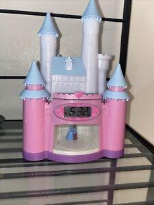 Disney Princess Cinderella Magical Storyteller Alarm Clock Night Light Up Castle