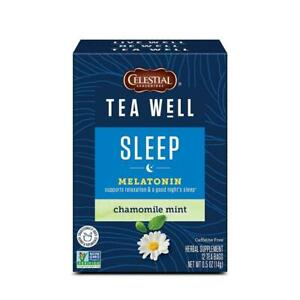 Celestial Seasonings Teawell Wellness Tea, Sleep, 12 Tea Bags X 6 Pack, 72 Total