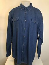 WRANGLER - Soft Denim Outdoor Mens 2XTall Western Cowboy Shirt