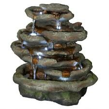 QN164061 - Ribbon Ridge Cascading Waterfall Illuminated Garden Fountain
