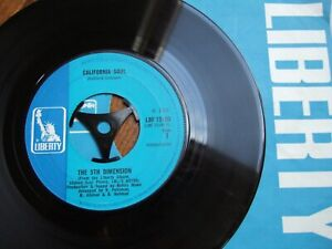 "THE 5TH DIMENSION   - CALIFORNIA SOUL - UK 7"" LIBERTY 15180 / 1968 IN CO.SLEEVE"