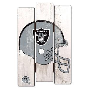 NFL Las Vegas Raiders Wood Sign Wooden Fence Decor Football Wall Decoration