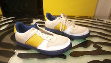 Greedy Genius Mens Athletic Shoes Size 9 Good Shape White Blue Yellow Green
