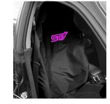 Subaru Impreza Sti Cubierta De Asiento Negro Con Rosa Sti logotipo