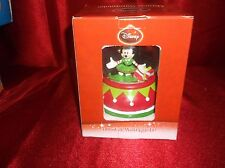 DISNEY MINNIE MOUSE MUSICAL SNOW WATER GLOBE WE WISH YOU A MERRY CHRISTMAS NEW
