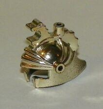 LEGO - Minifig, Headgear Helmet Castle w/ Dragon Crown Top - Chrome Silver
