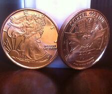 20~1oz. WALKING LIBERTY AMERICAN EAGLE*2012*.999 Fine Copper Bullion Rounds*USA*