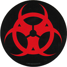 Sticker - Biohazard Biological Hazardous Waste Symbol Chemical Toxin Decal 13335