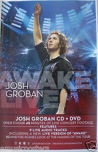 "JOSH GROBAN ""AWAKE LIVE"" U.S. PROMO POSTER - The Man, The Voice!"