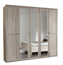 *SALE* German Oak Wardrobe 5 Door Large Quality Mirrored Wardrobes 225cm