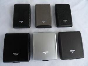 TRU VIRTU Aluminium Geldbörse Kreditkartenetui Etui RFID Schutz auch mit Leder
