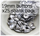 19mm self cover metal BUTTONS SHANK backs (sz 30) 25 QTY + FREE instructions