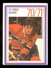 1970-71 ESSO POWER PLAYERS NHL #18 SERGE SAVARD EX+ CANADIENS UNUSED STAMP