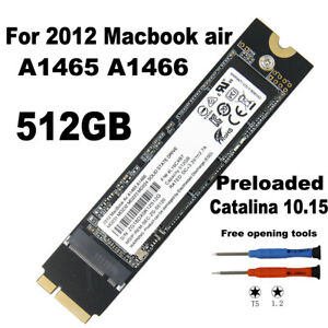 """NEW 512GB SSD REPLACE THNSNS512GMFP For MacBook Air 11"""" A1465 13""""A1466 Mid2012"""