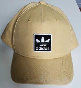 Adidas Adjustable Tan Snapback Trucker Baseball Hat Cap