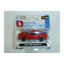Bburago 59000 Ford Mustang GT 2015 Red Scale 1:64 Model Car NEW! °