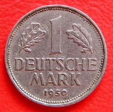 Escaso vintage German 1950 una marca de moneda en un muy buen grado coleccionable