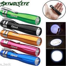250lm CREE xpe-r3 LED Clip Mini Penlight Linterna Lámpara LOTE