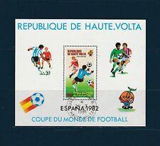 Haute Volta  bloc  coupe du mond d football 1982  num: BF 19 oblitéré