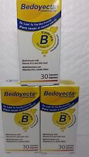 3 PACK OF BEDOYECTA  30 CAPS EA MULTIVITAMIN WITH FOLIC ACID AND VITAM.B12 08/18