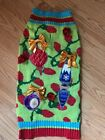 LIME GREEN UGLY XMAS SWEATER CHRISTMAS- Puppy/Dog Large NWOT