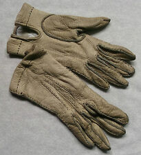 VINTAGE WOMENS NATURAL LEATHER DRIVING GLOVES 1950'S 1960'S RETRO MOD SMALL 6.5