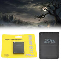 MEMORY CARD 128MB for SONY PLAYSTATION 2 PS2 SLIM GAME DATE CONSOLE A5