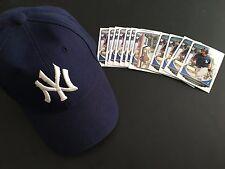 Gary Sanchez RC Lot (12) Cards Draft 2013 Bowman TP-31 + Yankees Hat